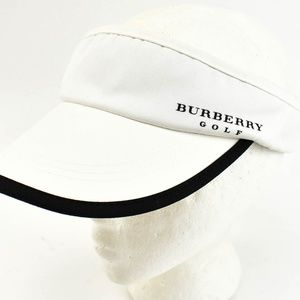 BURBERRY Golf: White, Logo Visor/Hat (nu)